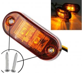 Utánfutó Lakókocsi  Teherautó Traktor helyzetjelző LED lámpa Narancs Sárga MM90118E