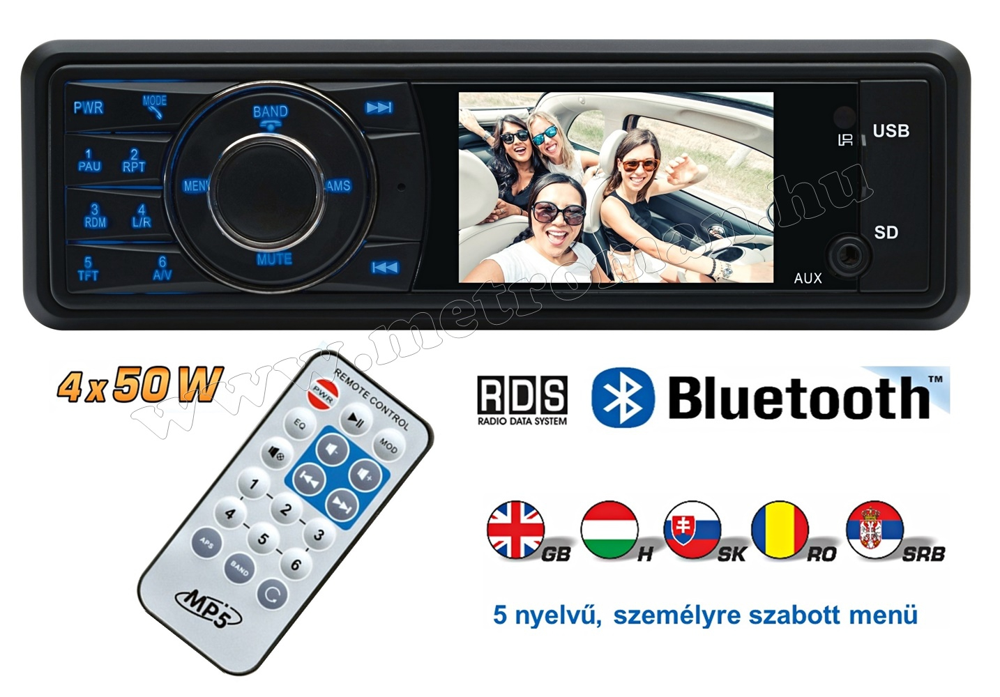 USB/SD MP3 MP4 MP5 Bluetooth Multimédiás autórádió LCD monitorral VB X100 BT