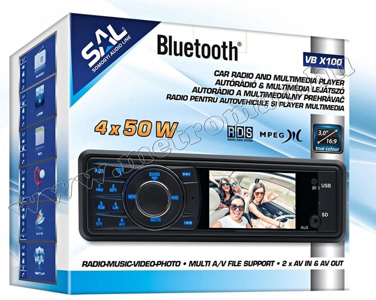 USB/SD MP3 MP4 MP5 Bluetooth Multimédiás autórádió LCD monitorral VB X100 BT