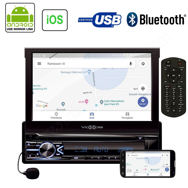 LCD érintőképernyős USB/SD Bluetooth multimédia fejegység VB X800i