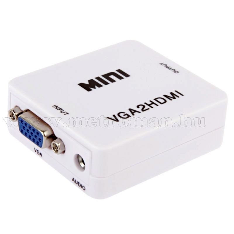 VGA-HDMI átalakító Konverter, PC - TV összekötésére, Full HD, Mlogic MD36