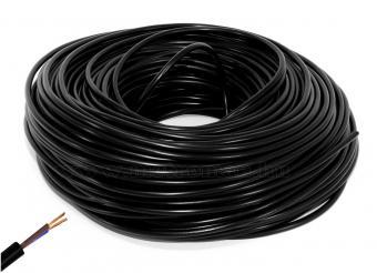 Vezeték, MT 2x1.5 mm2, gumi szigetelésű, fekete