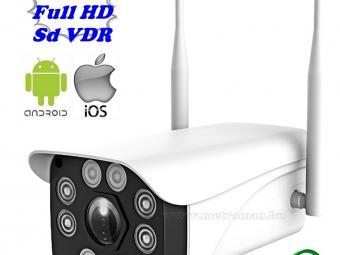 Vezeték nélküli kültéri Wifi IP, Android iPhone SD DVR megfigyelő kamera 982-2MP-FHD