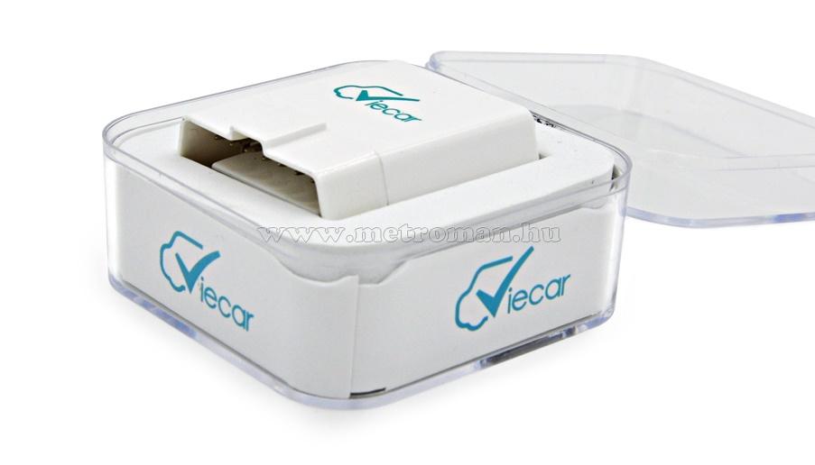 OBD2 bluetooth autó diagnosztikai műszer, hibakód olvasó/törlő  Viecar v4.0