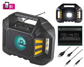 Hordozható víz és ütés álló rádió Bluetooth funkcióval SAL BTWORK