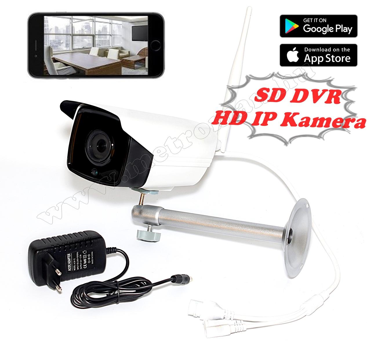 Vezeték nélküli Kültéri SD DVR Wifi IP Android iPhone megfigyelő kamera YW804 1Mp HD