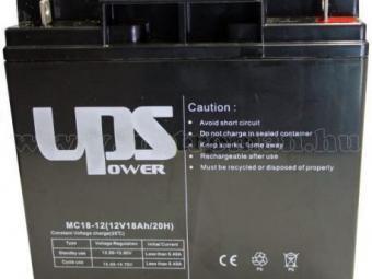 Zselés akkumulátor UPS 12V - 18AH