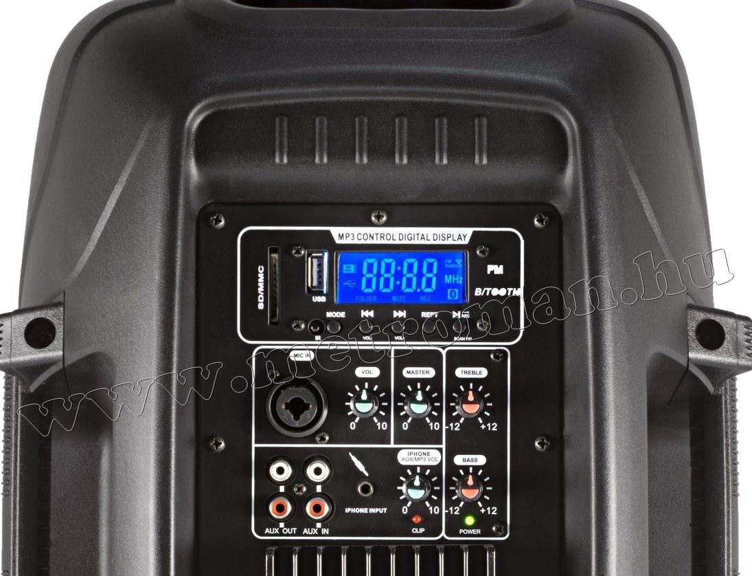 Karaoke szett Vezeték nélküli mikrofonnal, USB-SD Mp3 és Bluetooth zenelejátszóval PAX25PRO/A-MVN500