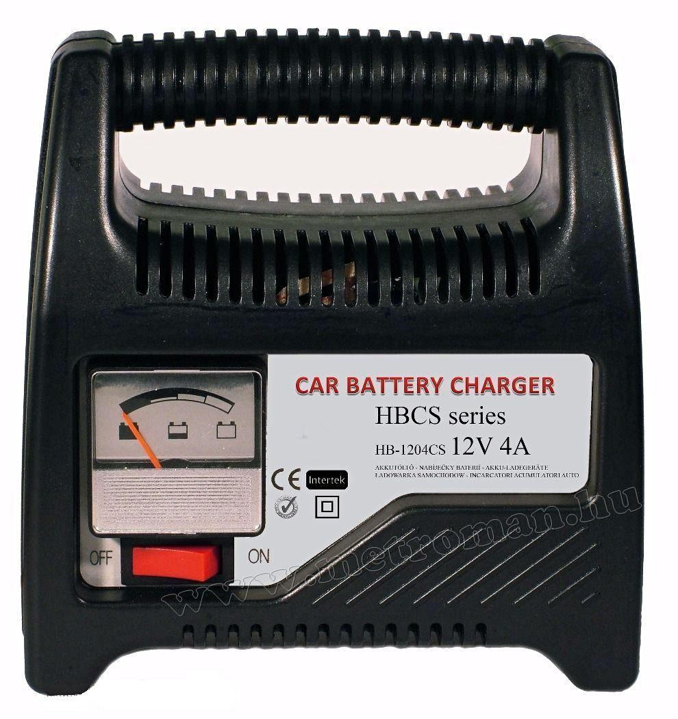 Autó akkumulátor töltő, 12 V/ 4 Amper, Henry HB-1204CS