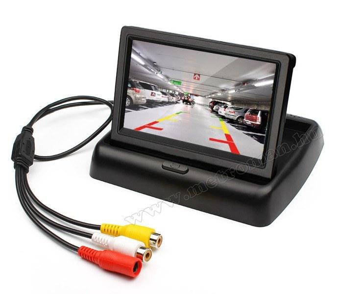 Rendszámtábla tolatókamera és tolatóradar LCD monitorral Mlogic MR43M2401