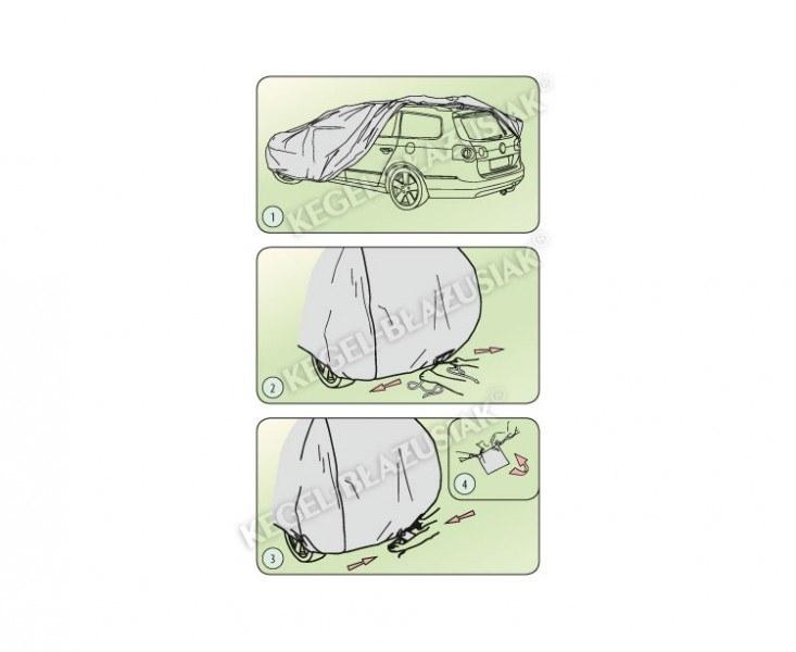 Autó takaró ponyva, Mobil garázs Kegel Egyterű Mini VAN XL
