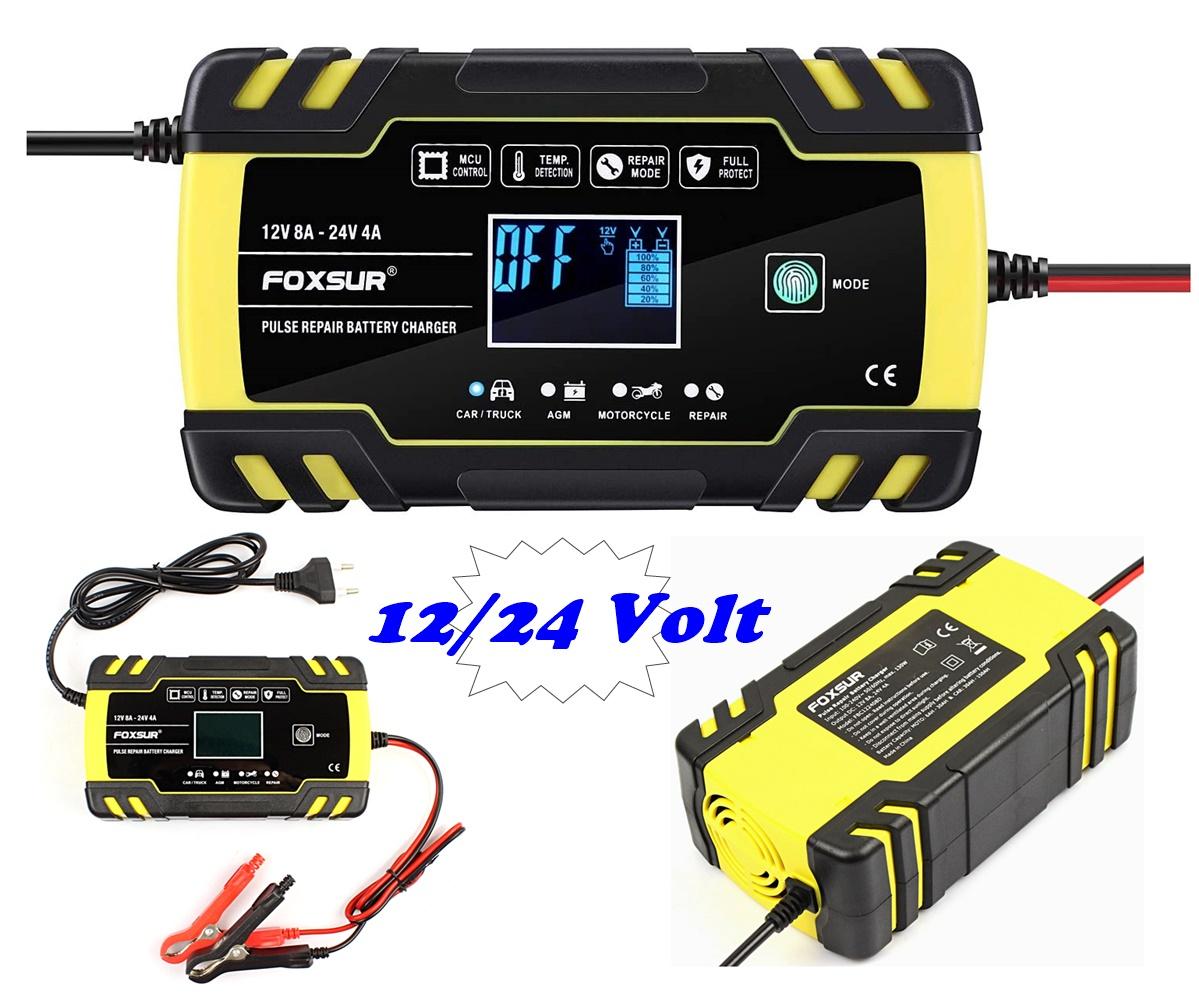 Intelligens automata akkumulátor töltő, csepptöltő 12-24 Volt Fuxsur FBC122408D