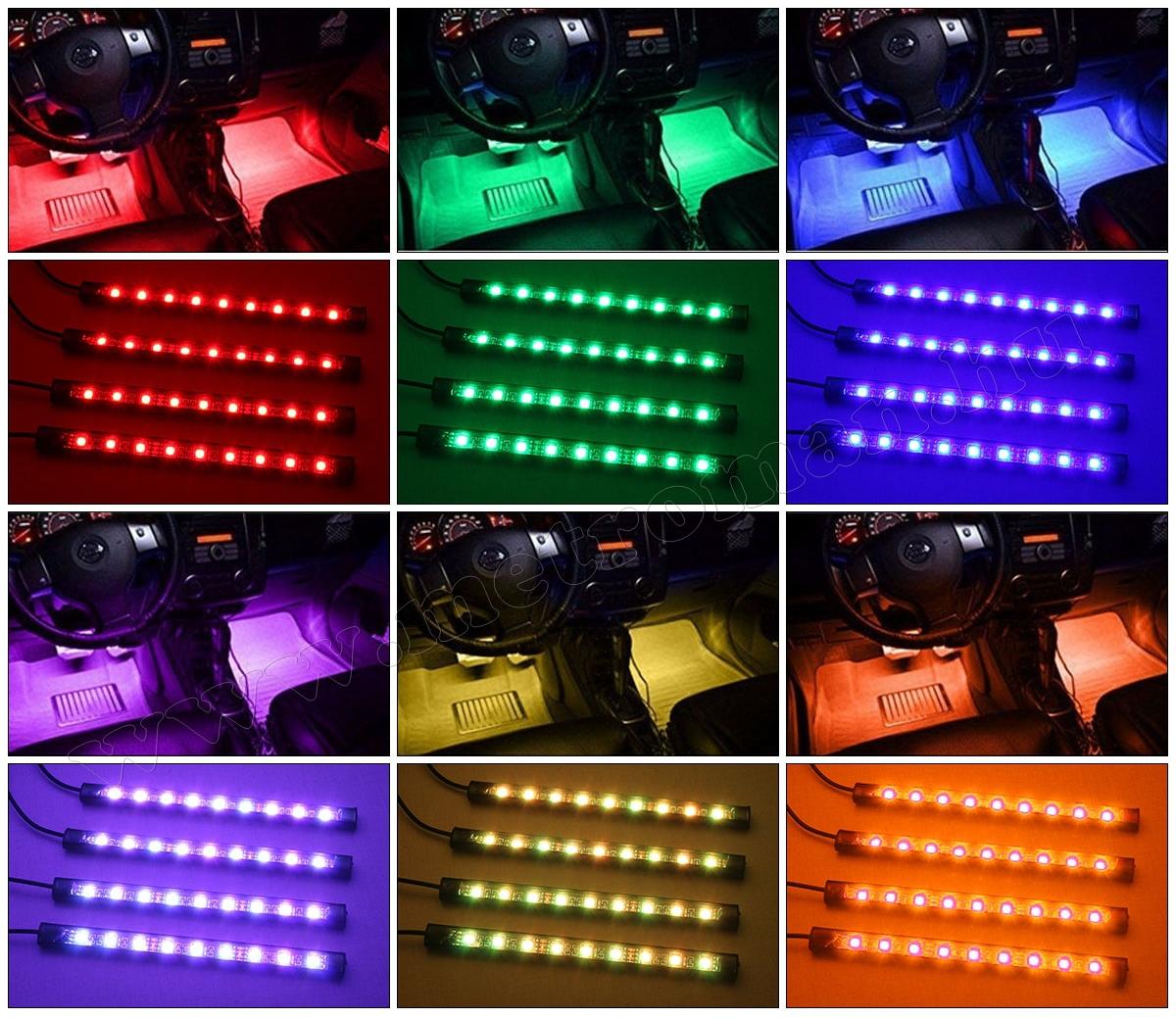 Autós RGB LED belső világítás MD65-A
