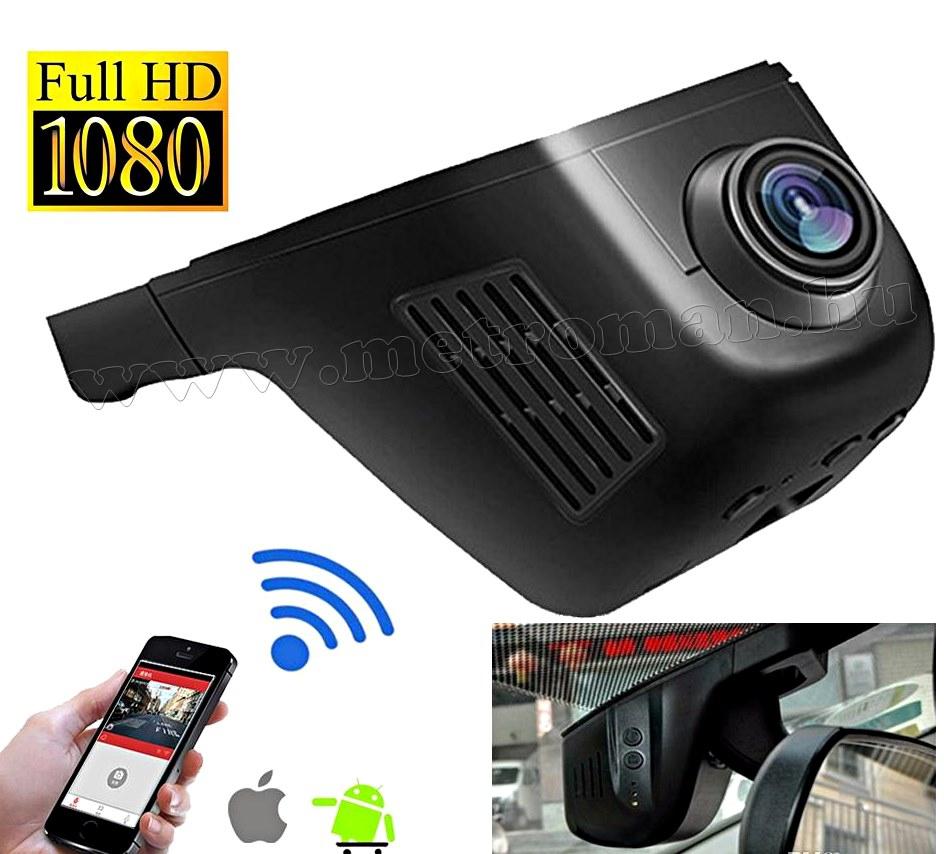 Autós beépíthető Wifi menetrögzítő kamera SAL DVR WF1 SMART