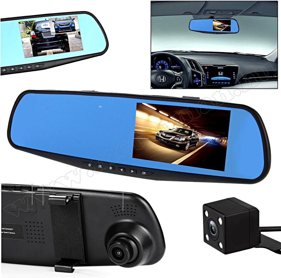 Autós kétkamerás DVR menetrögzítő és tolató kamera, Mlogic M0733 FHD