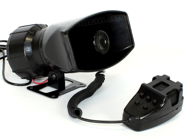 Autós elektronikus 5 hangú sziréna és hangos beszélő M7865