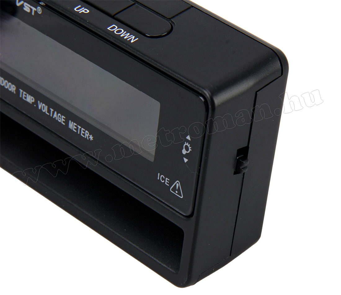 Digitális autós külső-belső LCD hőmérő és feszültség mérő MM5435
