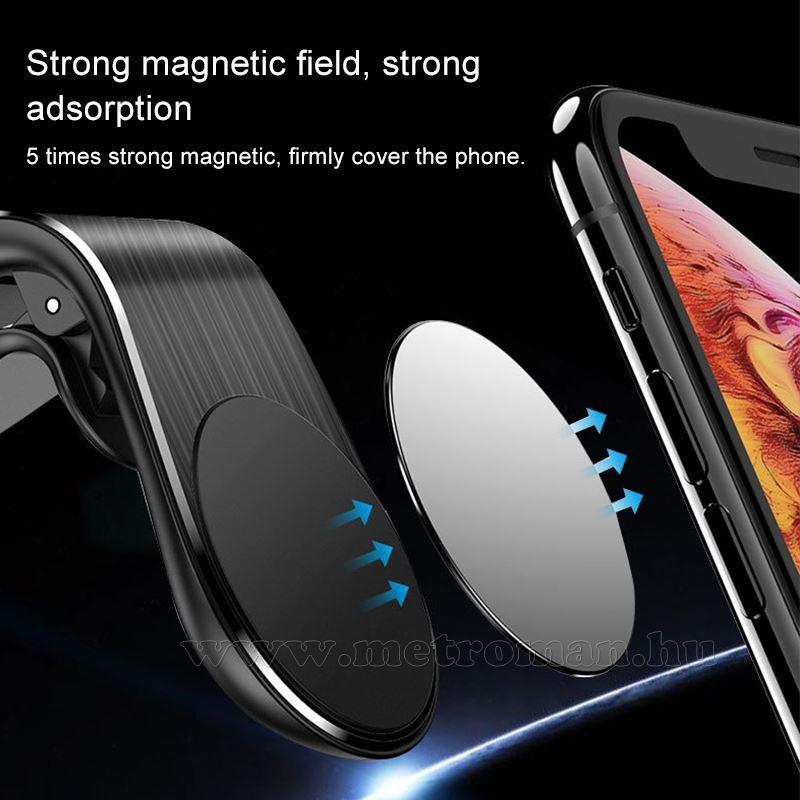 Mágneses autós telefontartó szellőzőrácsra MM9856B
