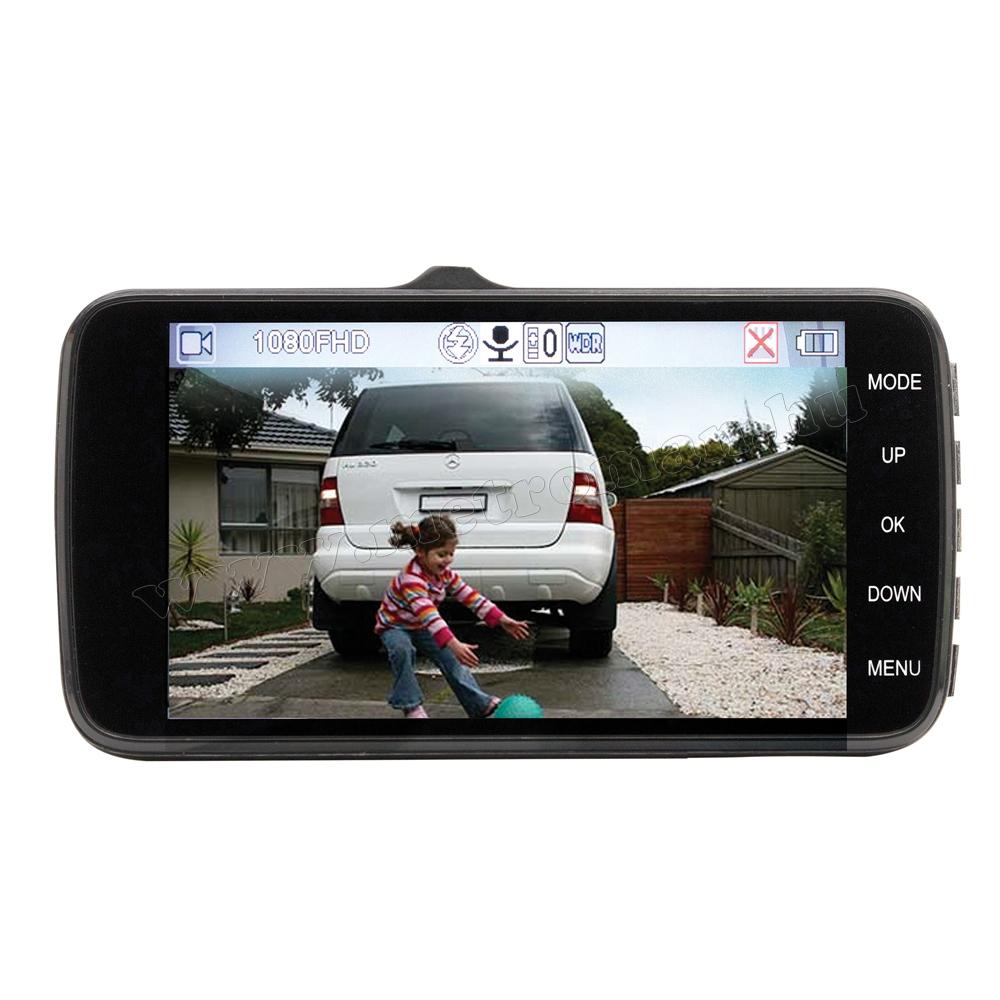 Autós kétkamerás DVR menetrögzítő és tolató kamera DVR 200 FHD