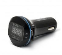 Autós, szivargyújtós USB töltő és Akku feszültség mérő 55054BK