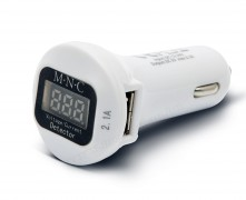 Autós, szivargyújtós USB töltő és Akku feszültség mérő 55054WH