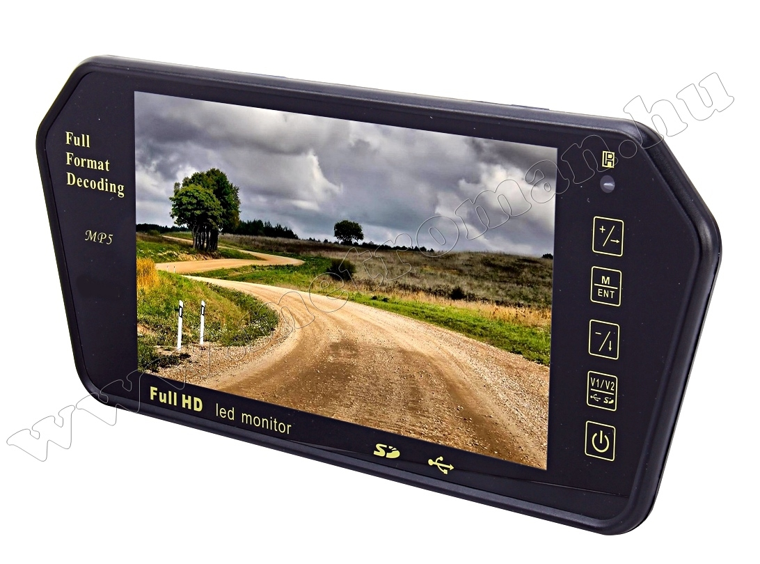 "Autós USB/SD MP3/MP4/MP5, 7"" LCD tükör monitor MM-701MP5N"