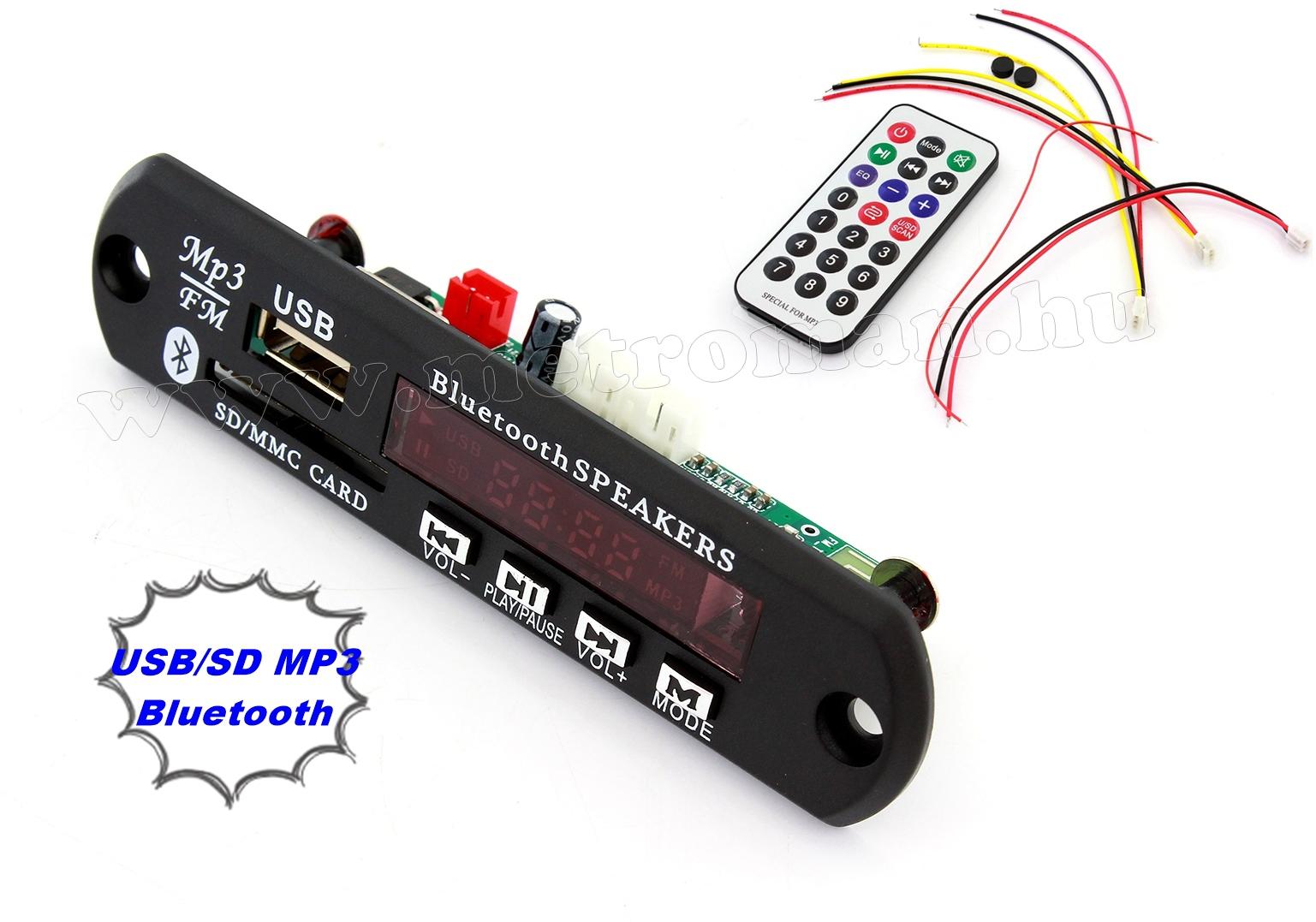 Beépíthető USB/SD és Bluetooth MP3 modul Mlogic MMS6