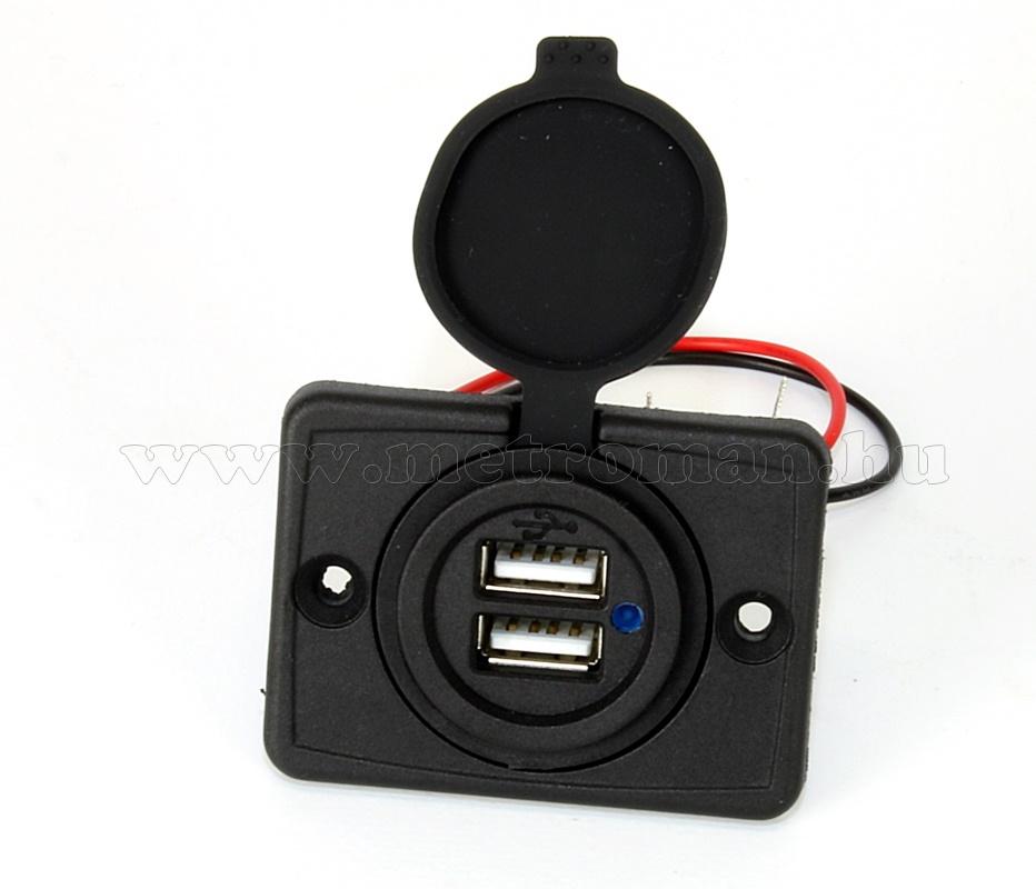 Beépíthető, vízálló nagyteljesítményű USB töltő aljzat MG522USB