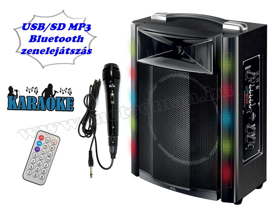 Hordozható karaoke szett USB MP3 Bluetooth zenelejátszóval PAR 16BT-M61