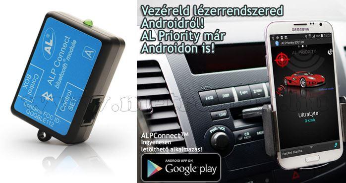 ALP CONNECT Bluetooth modul Al Priority lézerdetektor és blokkolóhoz d4ALPconn