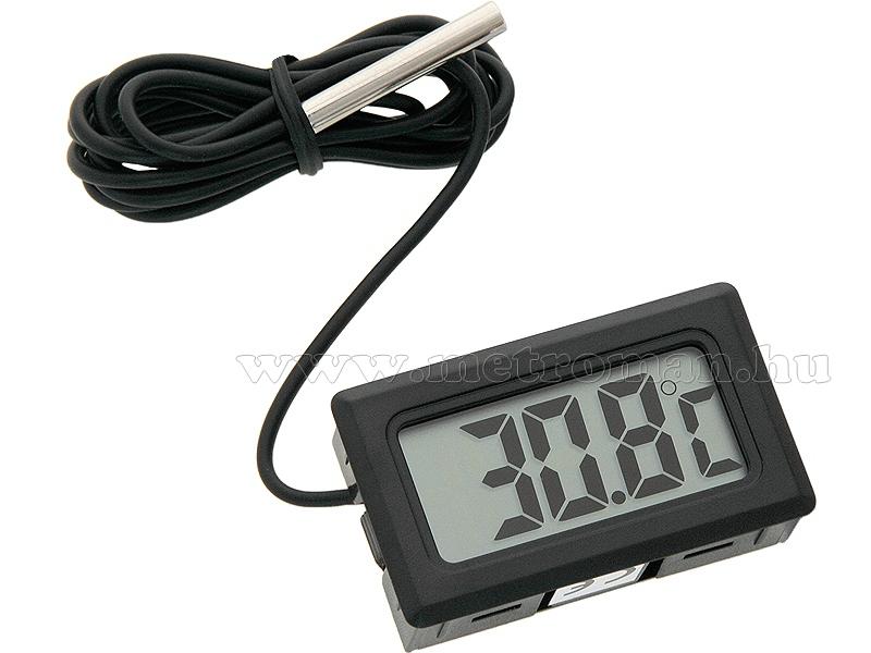 Digitális LCD hőmérő műszer -50 - + 110 °C-ig, Mlogic M300