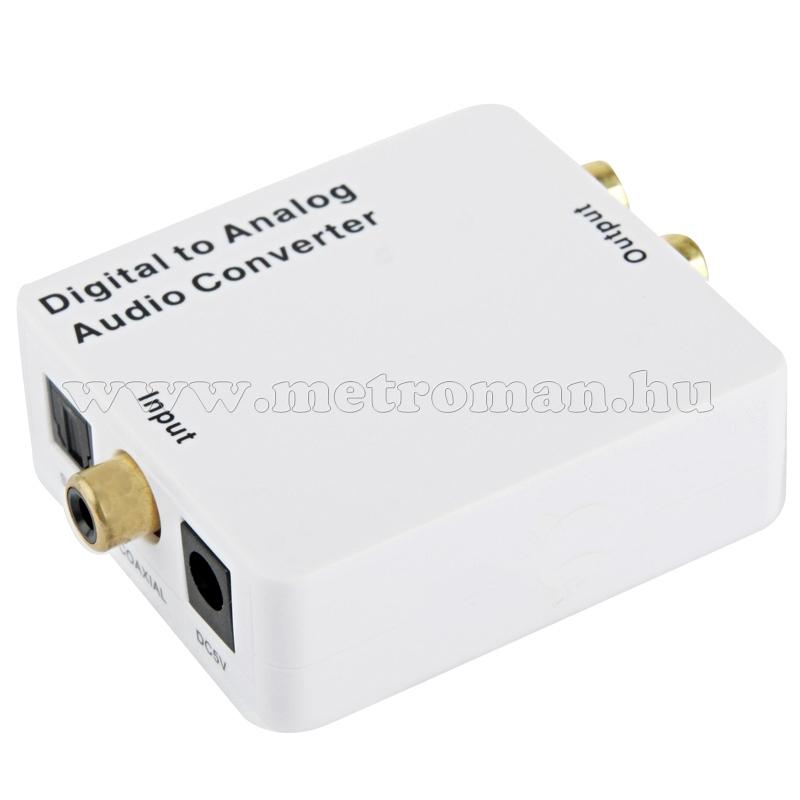 Digitális-analóg audió átalakító fejhallgató kimenettel M1240