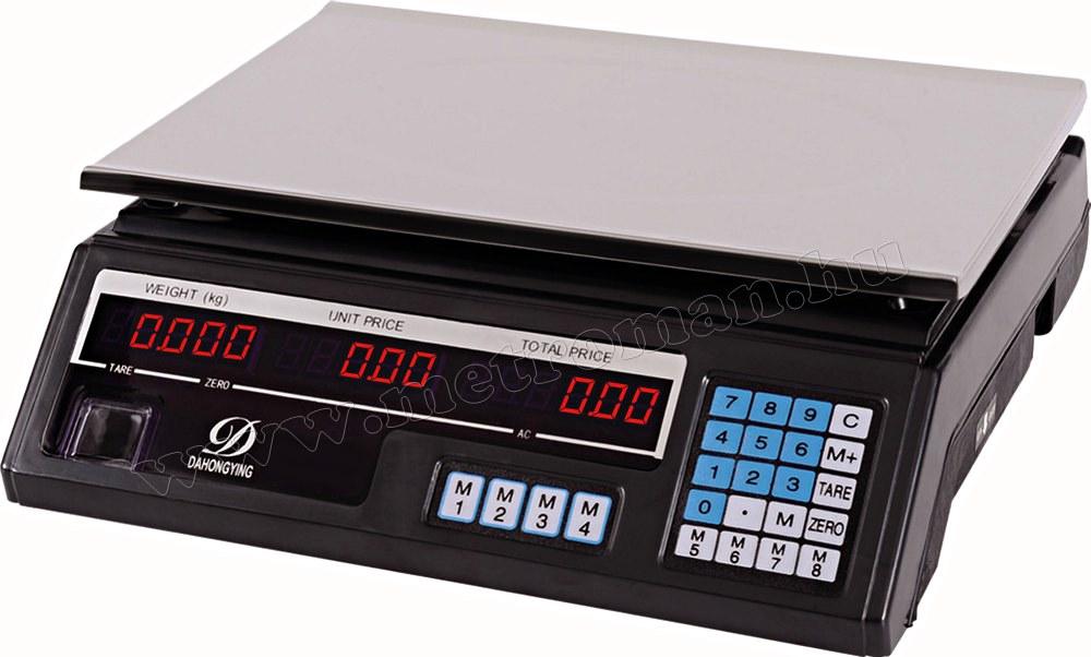 Digitális asztali mérleg árszámoló funkcióval M451