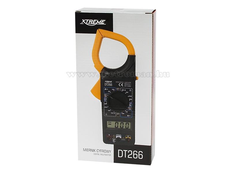 Digitális lakatfogó multiméter  Extreme DT266