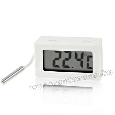Digitális LCD hőmérő műszer -50 - + 70 °C-ig , Mlogic MA-1184