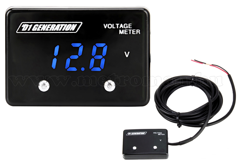 Digitális voltmérő alacsony feszültség riasztással  8-18 Volt DC, Mlogic M4857R