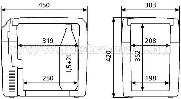 Dometic-TropiCool TCX-21hűtő 12/24/230 V