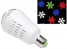 Színes hópehely mintás Projektoros LED égő MPRL1-E27