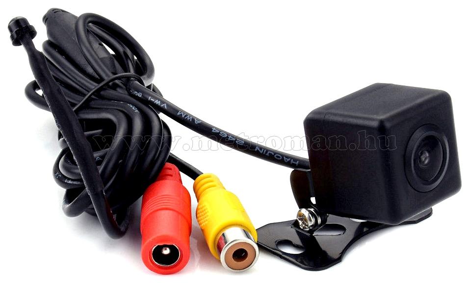 Autós tolatókamera kapcsolható raszterrel és első-hátsó kamera móddal MM407AD