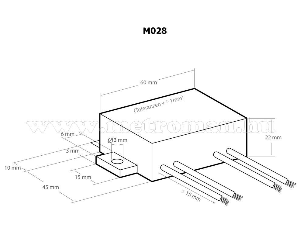 Teljesítmény - fordulatszámszabályzó, 230 Volt / 2600 Watt, Kemo M028