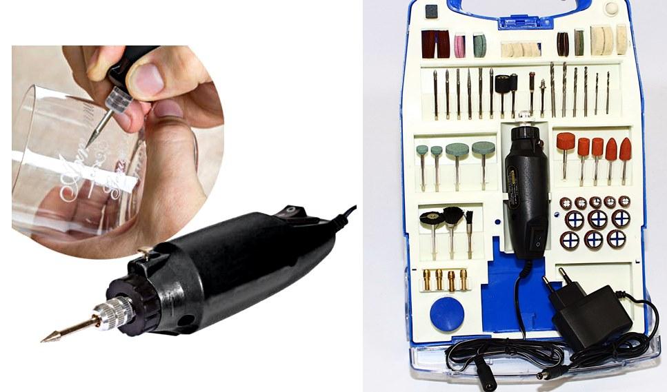 Gravírozó és mini fúró készlet M0756