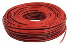Hangszóróvezeték 2 X 0,5 piros-fekete 10 méteres