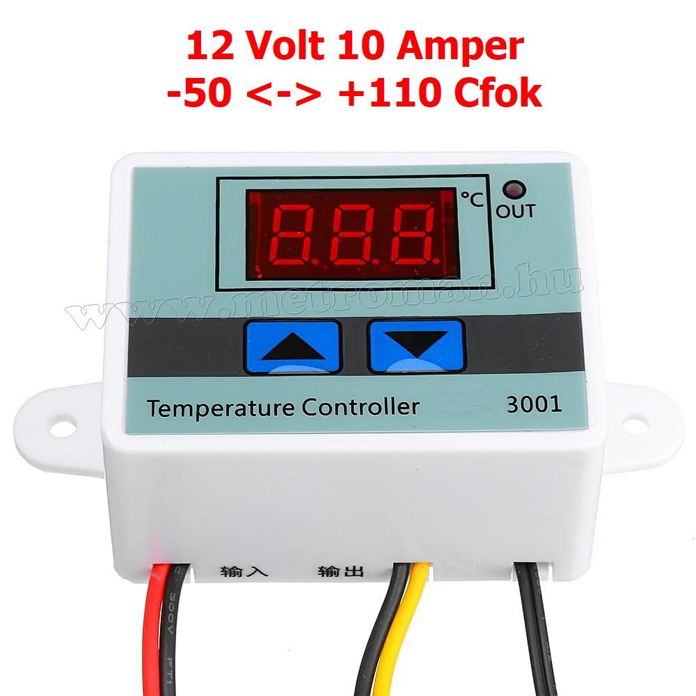 12 Voltos hőmérséklet kapcsoló -50 - +110 Cfok MM3001-12V
