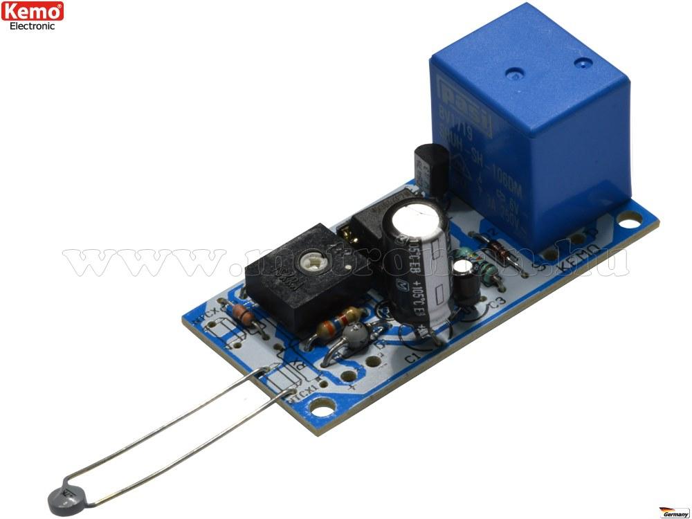 Hőmérséklet szabályzó, kapcsoló modul építőkészlet Kemo B048