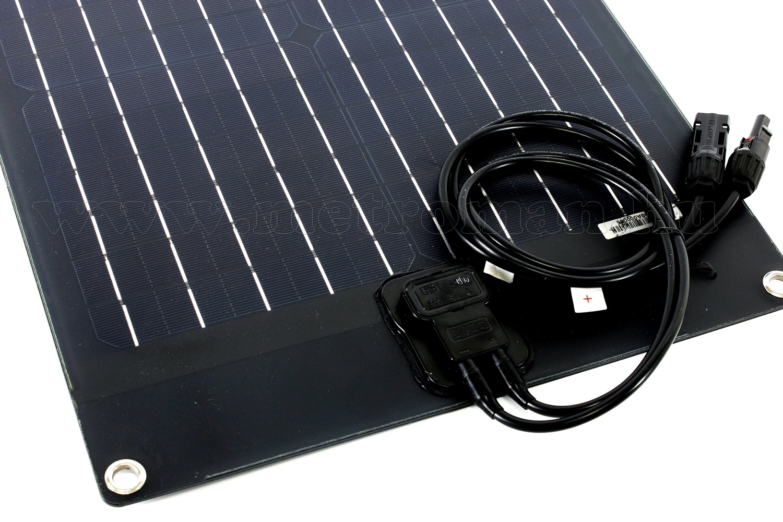25 Wattos Flexibilis félig hajlékony napelemes töltő szett töltésvezérkővel FG-FLEX25W-5A-PWM