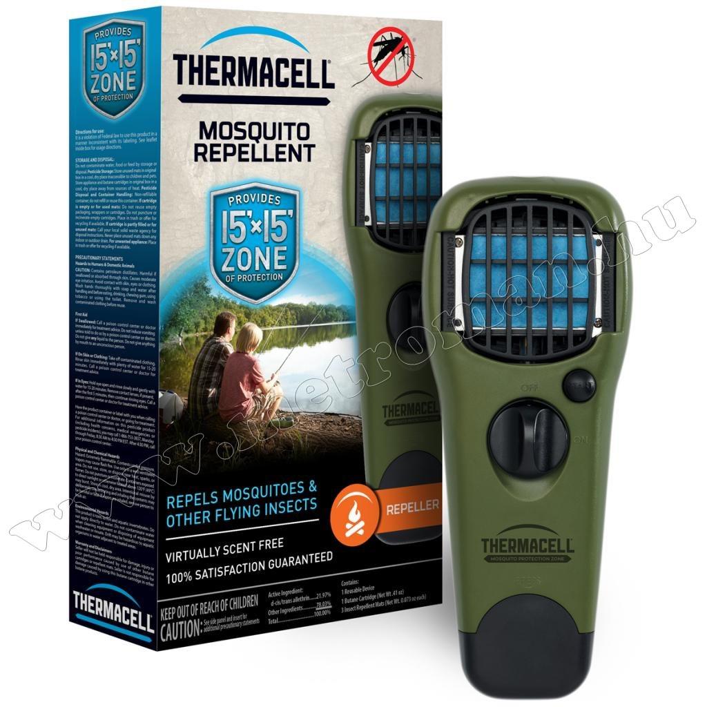 Gázpatronos szúnyogriasztó készülék ThermaCell MR-150 Olíva Zöld