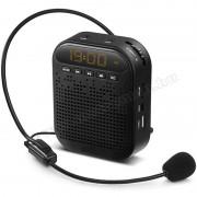 Hordozható idegenvezető kihangosító fejmikrofonnal és MP3 lejátszóval, M0369