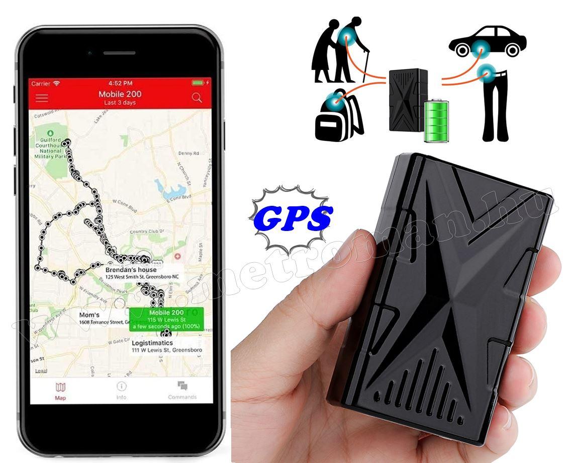 Hordozható mágneses GPS nyomkövető GPS-844