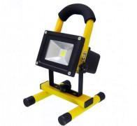 Akkumulátoros, tölthető LED Reflektor, 10 Watt, M0386
