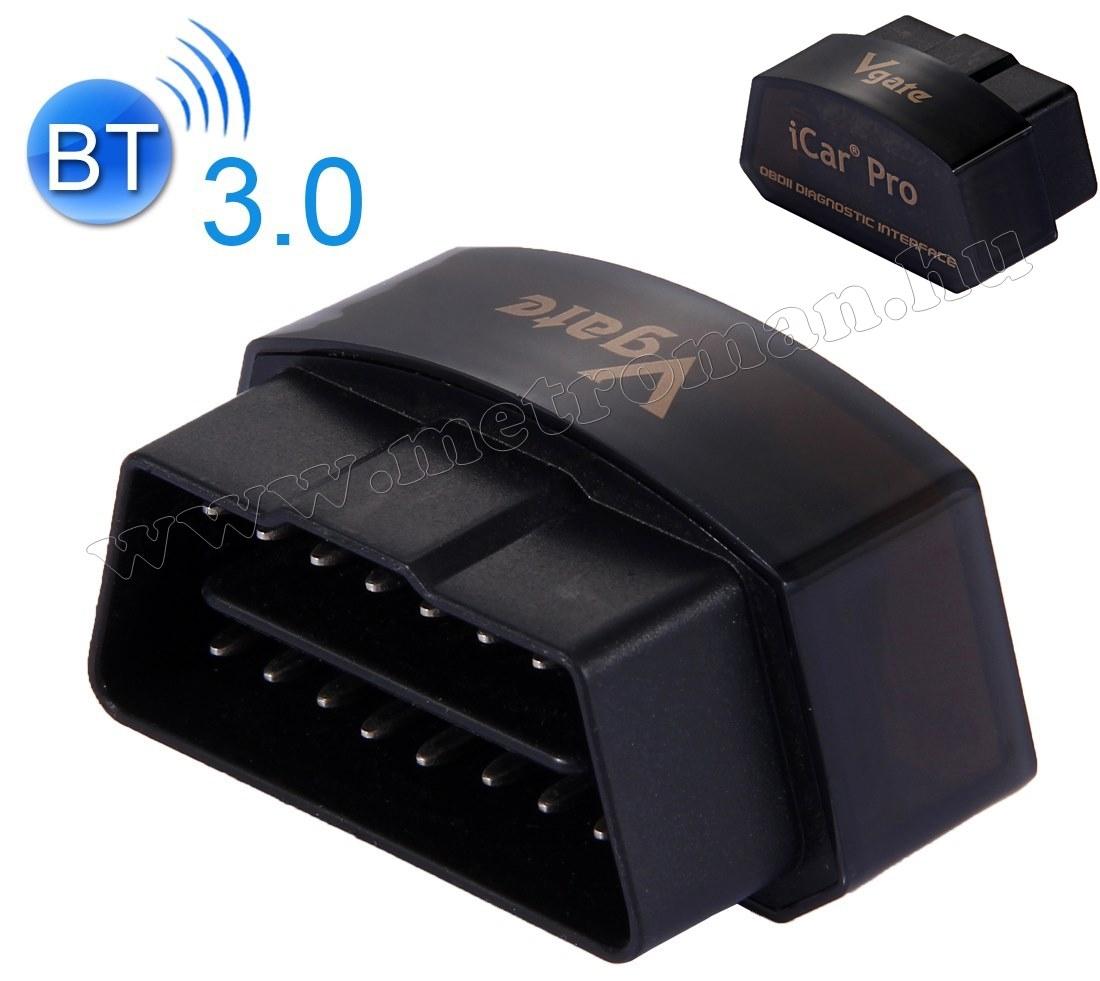 OBD2 Bluetooth autó diagnosztikai műszer, hibakód olvasó/törlő Vgate iCar PRO